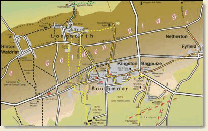 Map image of Golden Ridge where our villages are situated